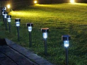 太阳能草坪灯户外防水照明LED地插庭院灯小管灯