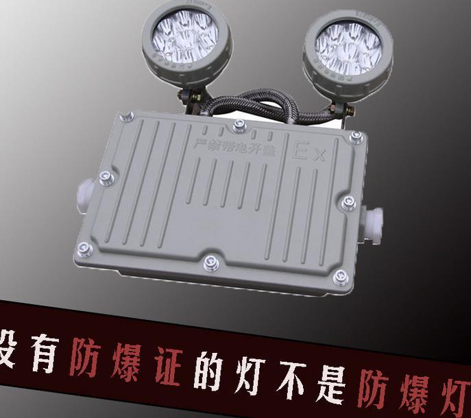 厂家直销浦东化工双头防爆应急照明灯国标高亮警示灯BAJ71